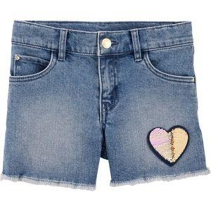 Girls carters shorts size 14
